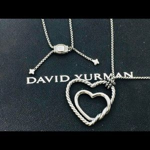 David Yurman Continuance Heart Necklace